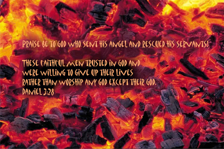 Shadrach meshach and abednego memory verse wallpaper