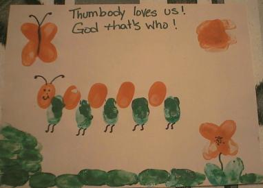 Thumbody Loves You craft