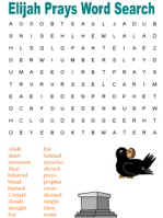 Elijah Word Search Puzzles