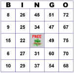 image relating to Printable Bingo Cards 1 75 known as Move 1 for Tailor made Bingo Playing cards