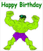 super hero, Birthday card