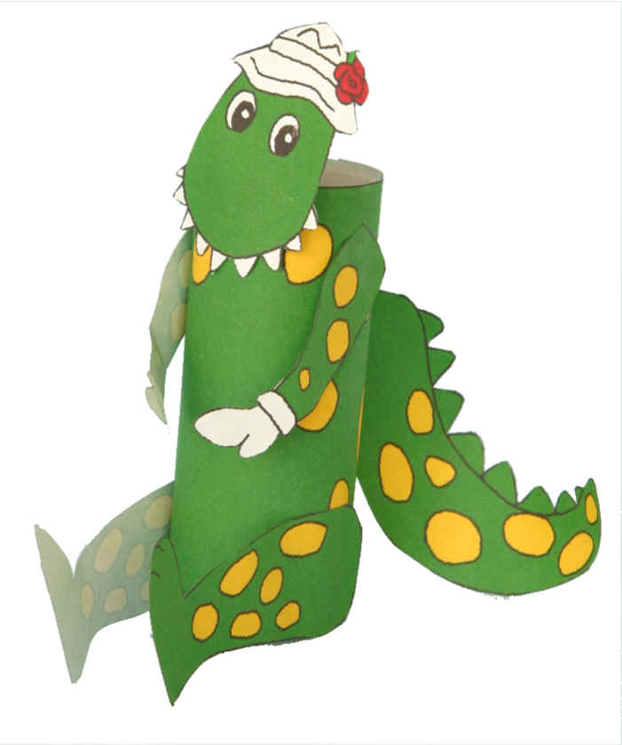 Dorothy The Dinosaur Toilet Paper Roll Craft
