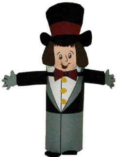 paper roll tuxedo craft circus ringmaster toilet paper roll craft 5132