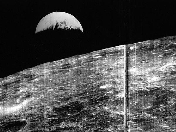 Lunar Orbiter Earth Photo