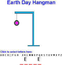picture about Printable Hangman known as Environment Working day Video games