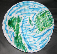 Planet Earth Coffee Filter Craft
