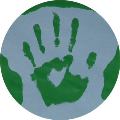 Handprint earth crafts