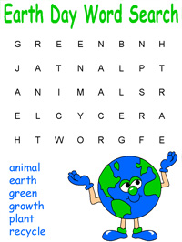 Earth Day Crafts, Worksheets, Games and Activities