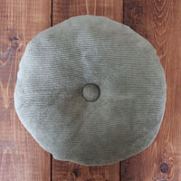Upcycled Circle Pillow