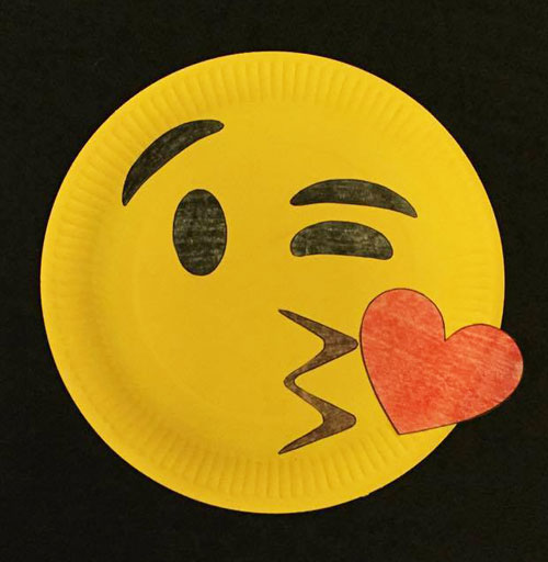 emoij paper plate craft