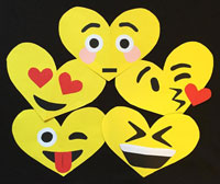heart-shaped emoji valentines