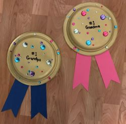 Paper Plate Medals Craft for Grandparent's Day
