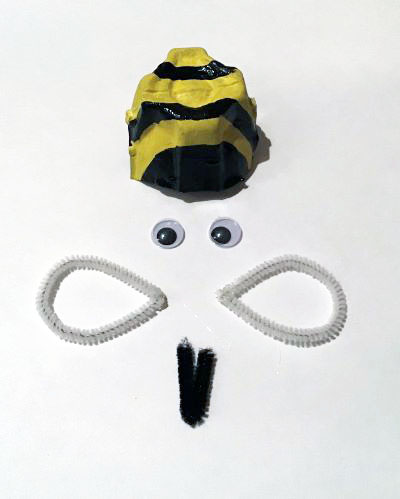 Egg Carton Bee Craft