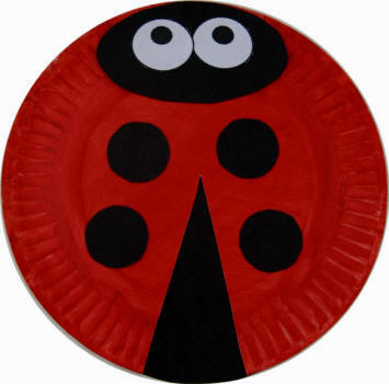 Craft Ideas  Paper on Kids Ladybug Paper Plate Craft Materials Printer And Paper If Using