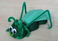egg carton cricket craft