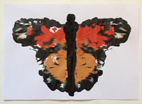Fingerpaint Butterfly craft