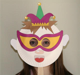 Paper Plate Jester Mask & Paper Plate Jester Craft