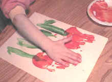 handprint tulip craft