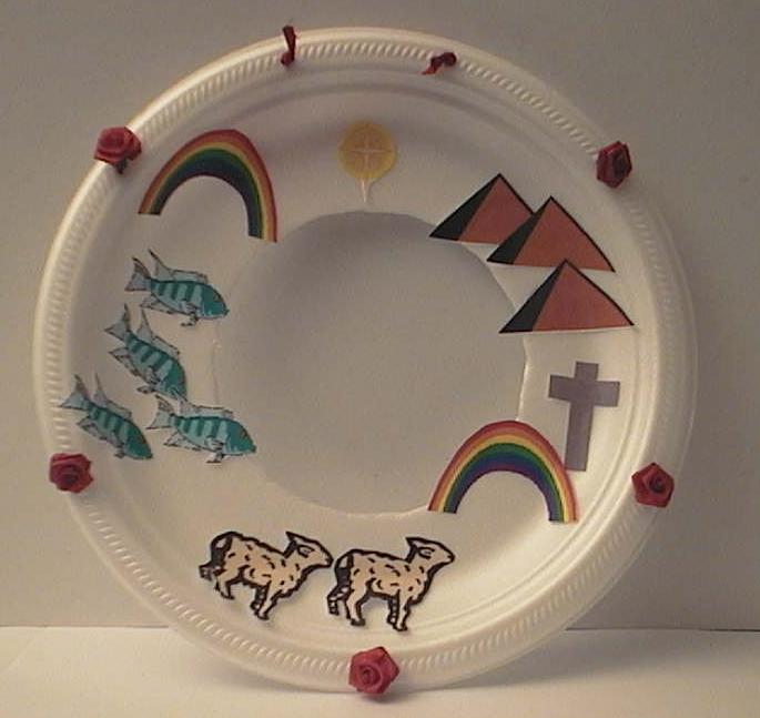 Books of the bible wreath for Dltk crafts for kids