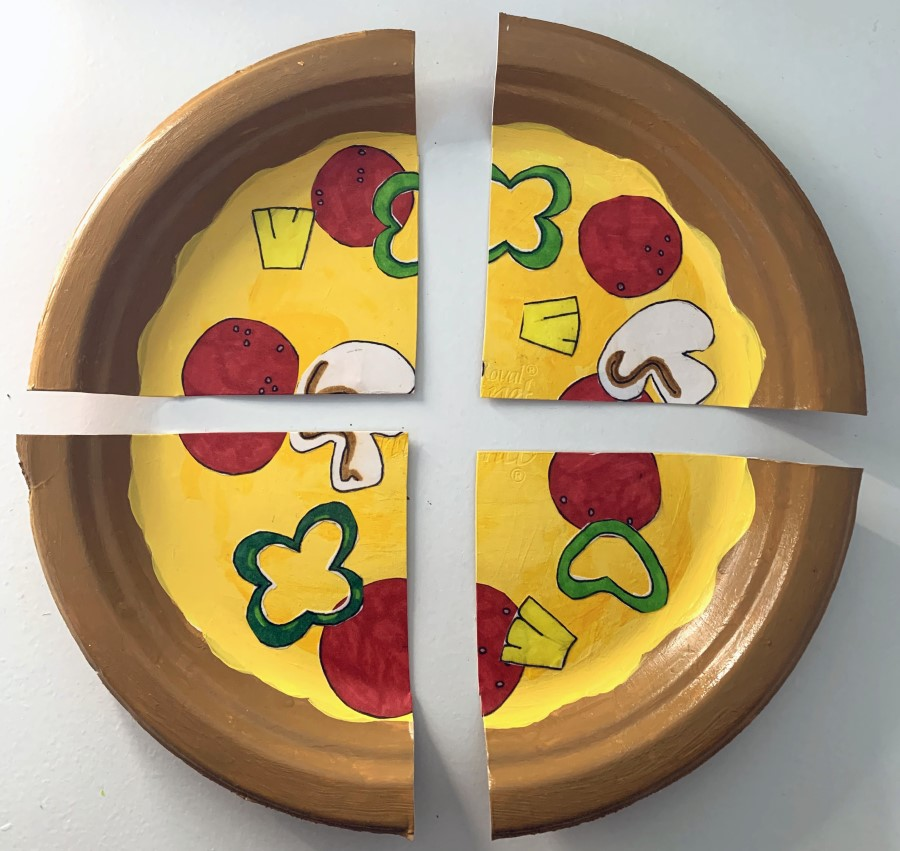 DIY Pizza Paper Plate Craft