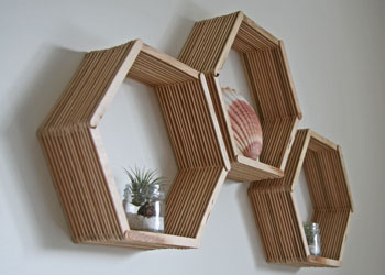 Popsicle Stick Shelf Craft