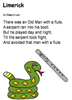 Limerick: There was an Old Man with a Flute by Edward Lear