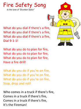 Fire Safety Worksheets Preschool http://www.dltk-kids.com/crafts/miscellaneous/fire-songs.html