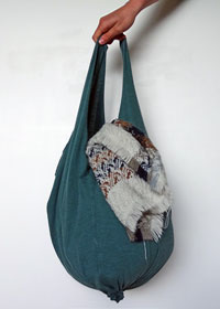simple recycled t-shirt bag