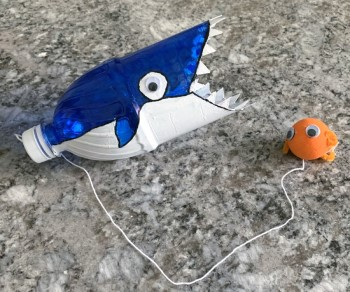 Shark and Ball Cup Game craft