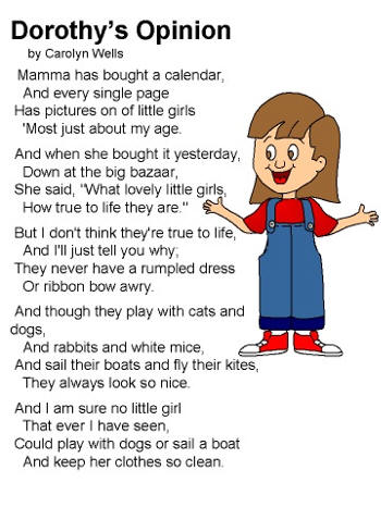 Dltk Coloring Pages on Poem Dorothy S Opinion By Carolyn Wells