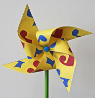 Music Note Pinwheel craft