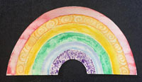 rainbow water color craft
