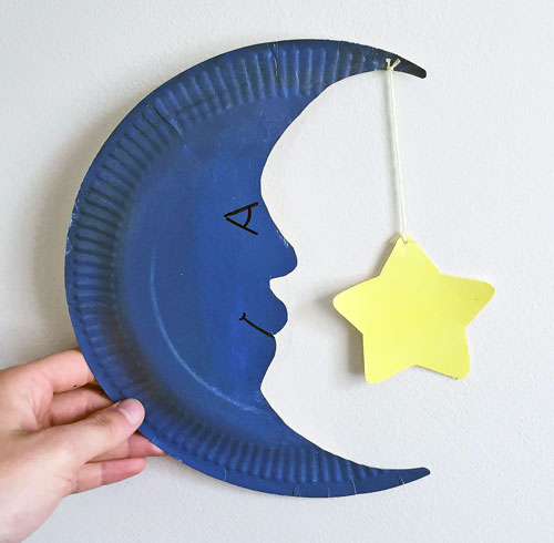 moon paper plate craft