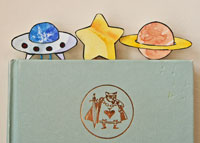 night sky paper clip bookmarks craft