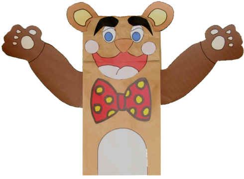 Craft Ideas Construction Paper on Dltk S Crafts For Kids Paper Bag Bear Puppet