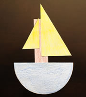 Halves Boat Paper Craft