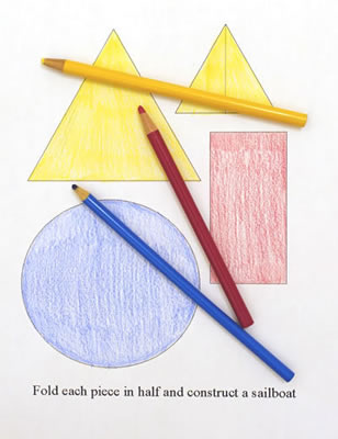 Color the boat template.