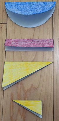 fold shapes in half