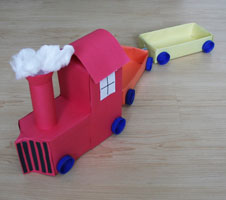 milk carton train craft