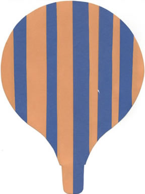 paper strip hot air balloon craft