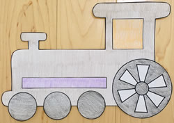 Train Locomotive Engine Paper Craft Preschoolers And Up