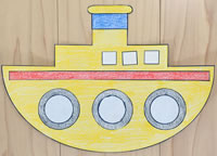Tugboat paper craft