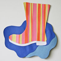 paper strip rain boot craft