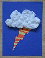 storm paper strip craft
