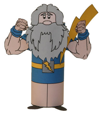 Zeus Toilet Paper Roll Craft