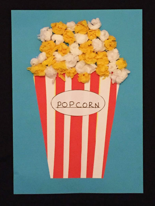 Paper Strip Popcorn Craft