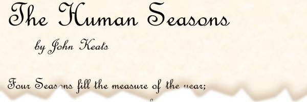 the human seasons by john keats essay