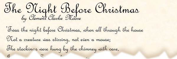 graphic regarding The Dash Poem Printable Pdf known as POEM: The Night time In advance of Xmas through Clement Clarke Moore
