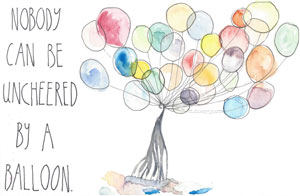 Nobody can be uncheered by a balloon.