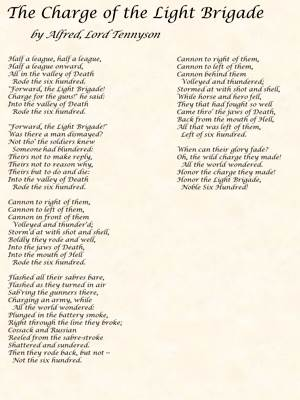 POEM: The Charge of the Light Brigade by Alfred, Lord Tennyson